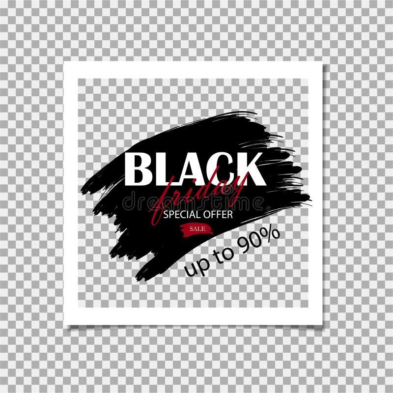 För Sale för Black Friday sakkunnigerbjudanden mall för design rabatt också vektor för coreldrawillustration stock illustrationer