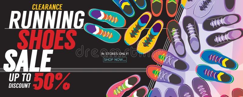 För Sale 6250x2500 för rinnande skor baner PIXEL vektor illustrationer