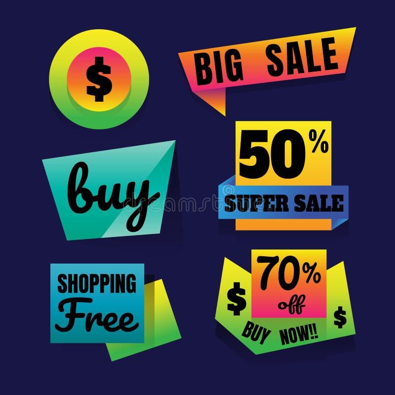 För Sale för Sale knapp som toppen affisch för baner tecken är klar för rengöringsduk vektor illustrationer