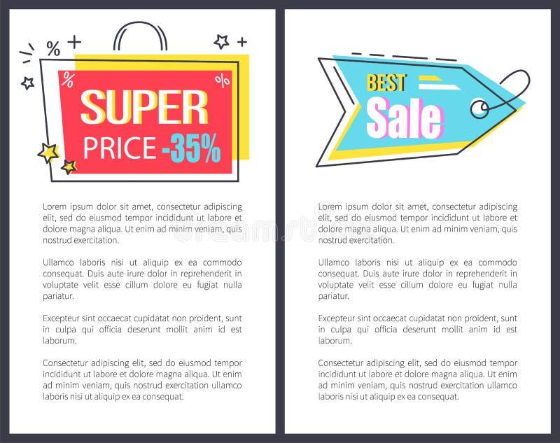 För Sale för toppet pris bästa uppsättning för pil för påse för klistermärkear Promo stock illustrationer