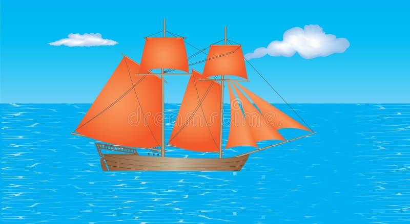 Download För Seglingship För Liggande 3d Solnedgång Vektor Illustrationer - Illustration av medf8ort, vatten: 78730438
