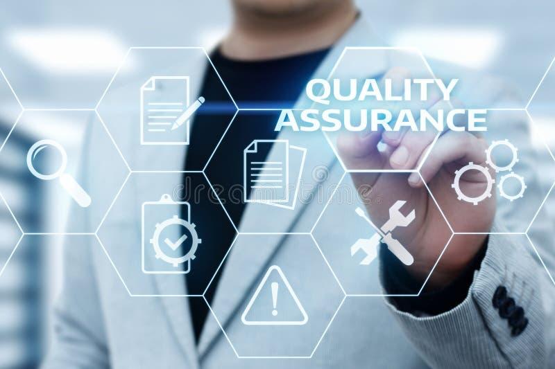 För servicegaranti för kvalitets- försäkring begrepp för teknologi för affär för internet standart royaltyfri foto