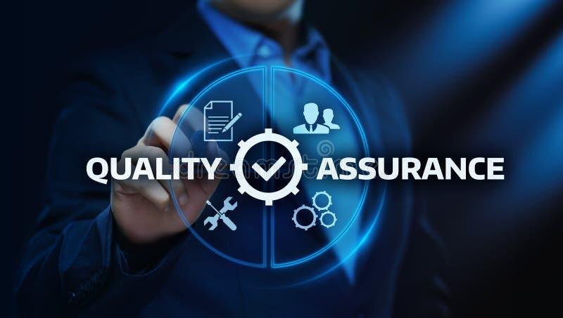 För servicegaranti för kvalitets- försäkring begrepp för teknologi för affär för internet standart vektor illustrationer