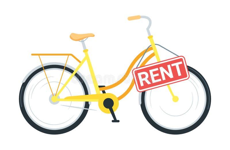 För servicevektor för cykel uthyrnings- illustration stock illustrationer