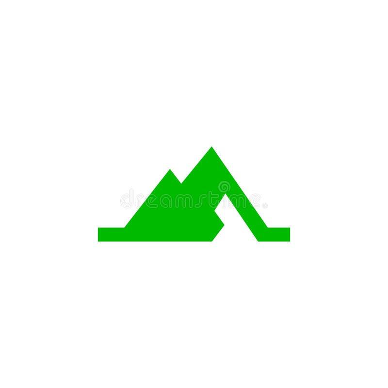 För sexhörningslogo för vektor M abstrakt begrepp royaltyfri illustrationer