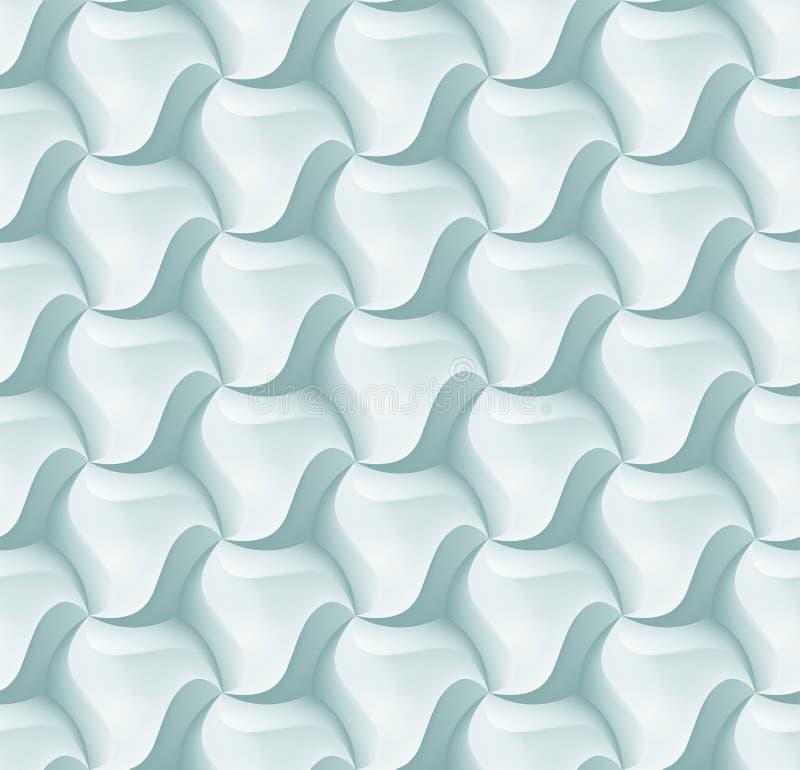 För sexhörningstegelplatta för vektor 3d modell för tegelsten för garnering- och designtegelplatta royaltyfri illustrationer