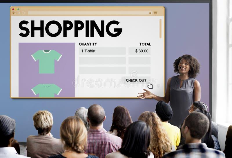 För Shopaholic för shoppingmarknadsföringsköp begrepp utgifter arkivfoto
