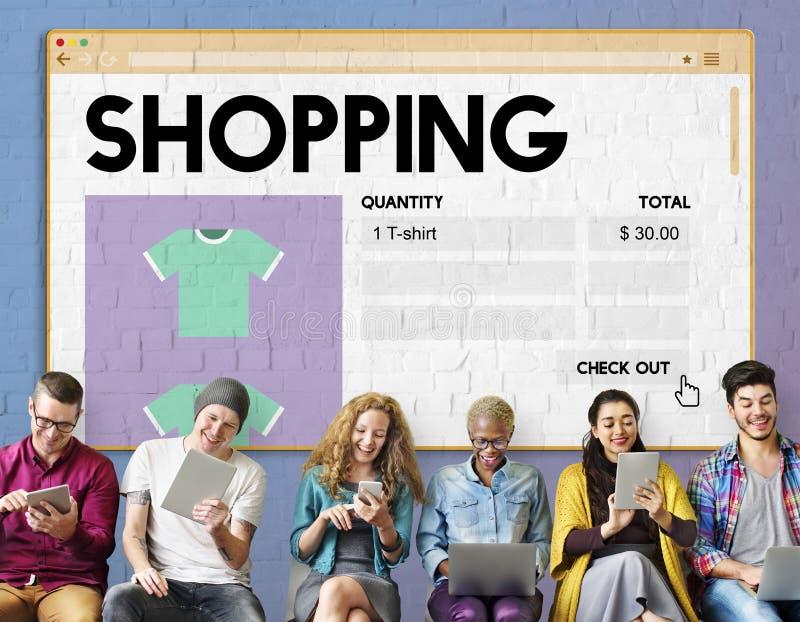 För Shopaholic för shoppingmarknadsföringsköp begrepp utgifter royaltyfri fotografi