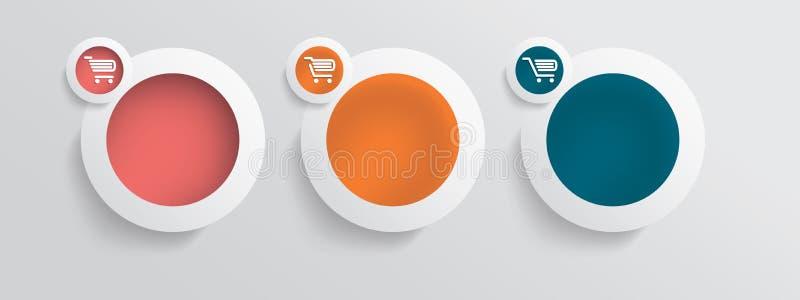 För shoppingvektor för grundläggande affär online-symboler vektor illustrationer