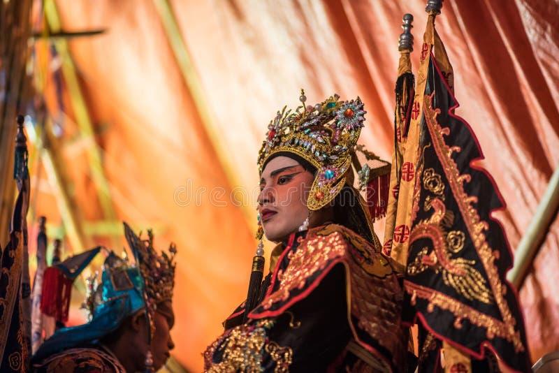 För showen av operan för traditionell kines arkivbild