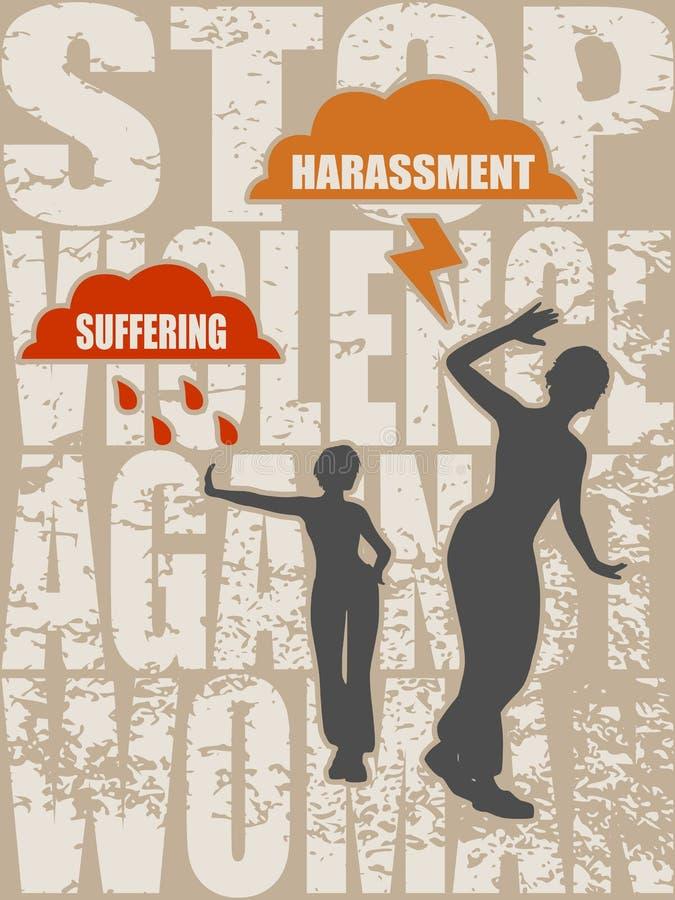 För showstopp för ung kvinna en gest Stoppa våldsamkvämbegreppet vektor illustrationer