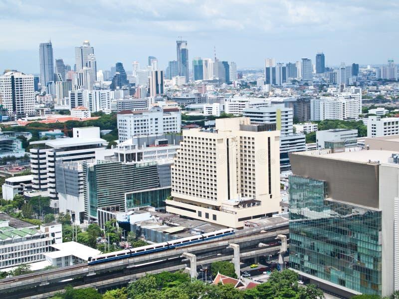för siam för områdesbangkok shopping fyrkant skytrain arkivfoton