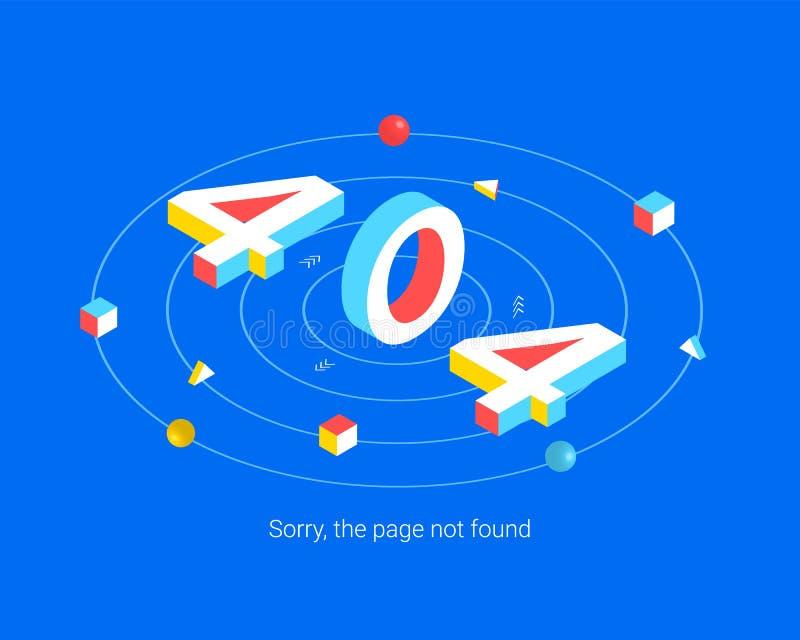 För sidadesign för fel 404 begrepp royaltyfri illustrationer