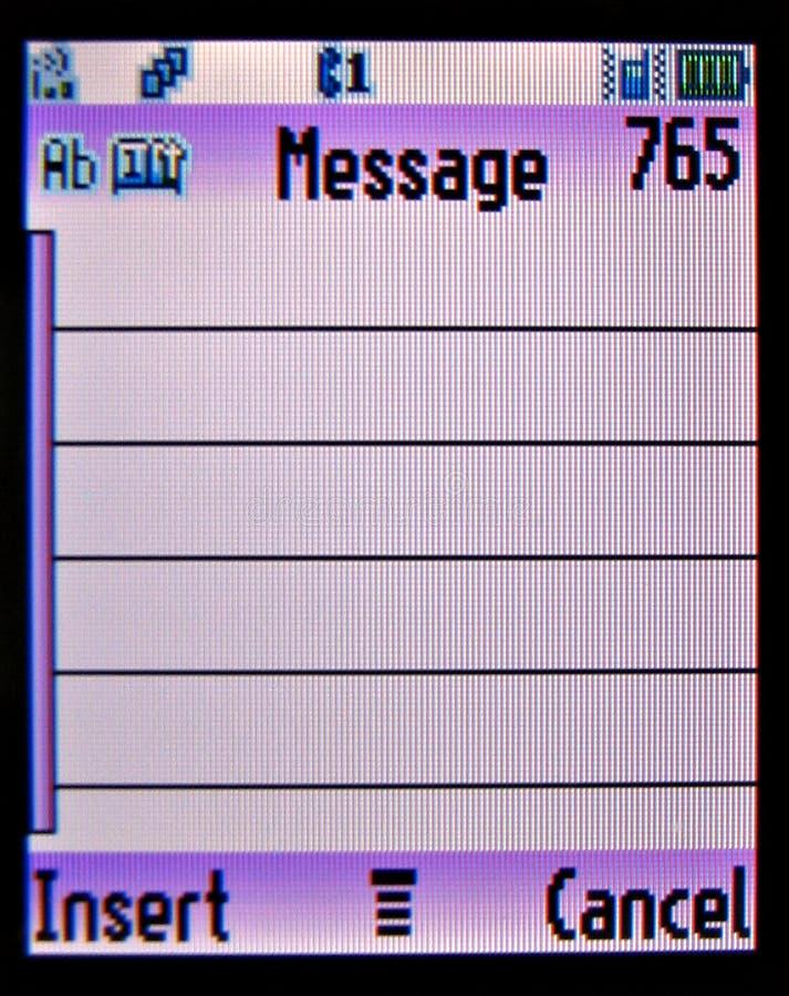 för sidatelefon för meddelande mobil text royaltyfria foton