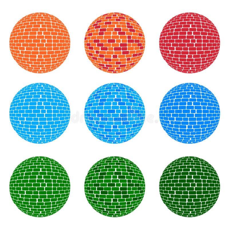för signalsfär för 3 färg modell för tegelsten arkivbild