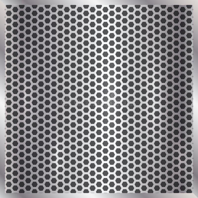 För silvercell för vektor metallisk bakgrund stock illustrationer