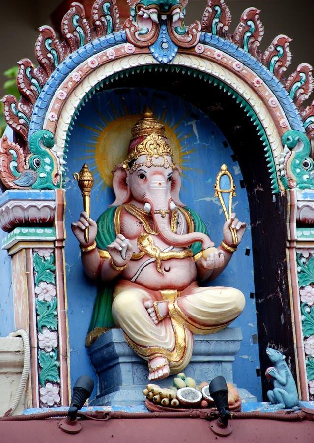 för singapore för ganeshgud mariamman tempel sri arkivbilder