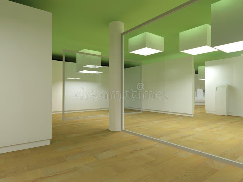 för sjukhuslampa för kuber grönt vänta för lokal stock illustrationer