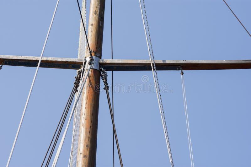 För skepp` s för gammal stil mast royaltyfria bilder