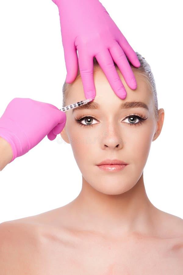 För skincarebrunnsort för injektion ansikts- behandling för skönhet arkivfoto