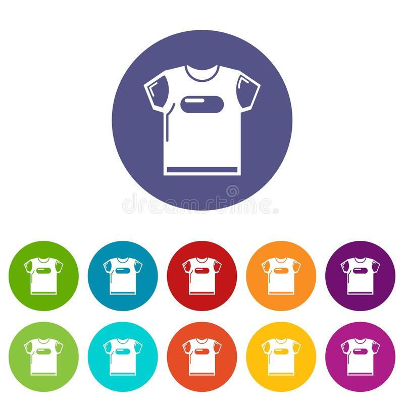 För skjortasymboler för barn t färg för vektor fastställd stock illustrationer