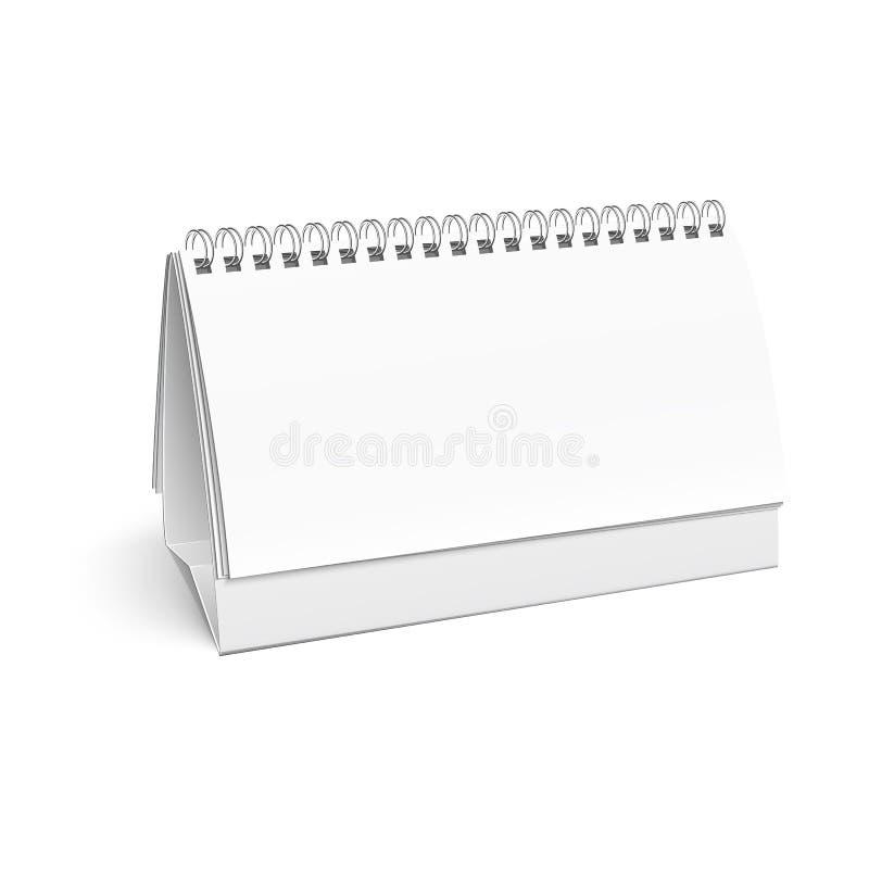 För skrivbordspiral för tomt papper kalender. vektor illustrationer
