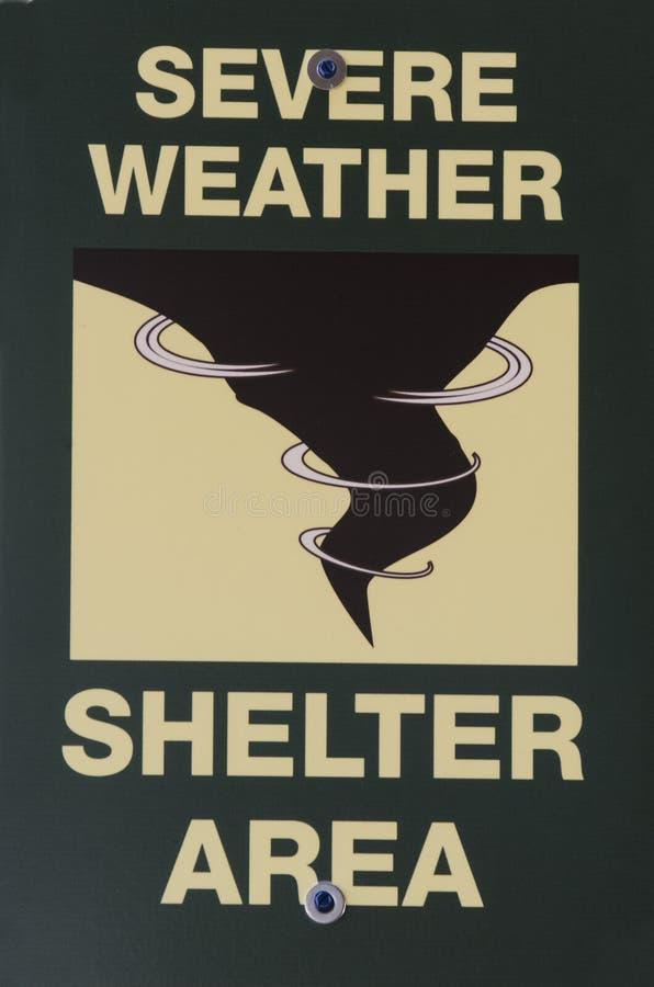 För skyddområde för strängt väder tecken arkivfoton