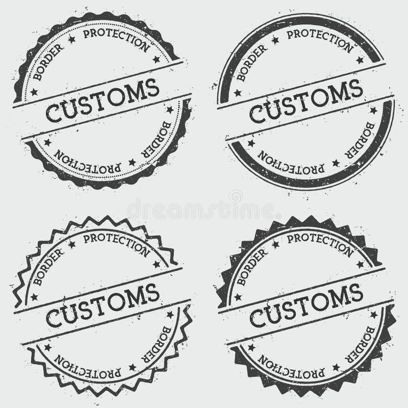 För skyddsgradbeteckning för egen gräns isolerad stämpel royaltyfri illustrationer