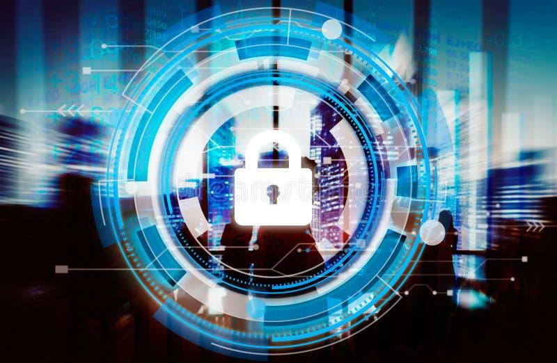 För skyddssäkerhet för affär företags begrepp för säkerhet arkivbild