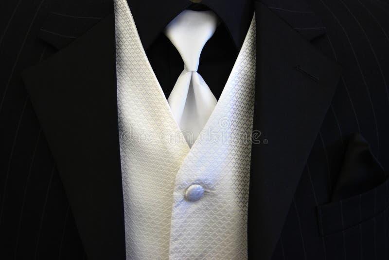 för smokingvest för svart tie white fotografering för bildbyråer