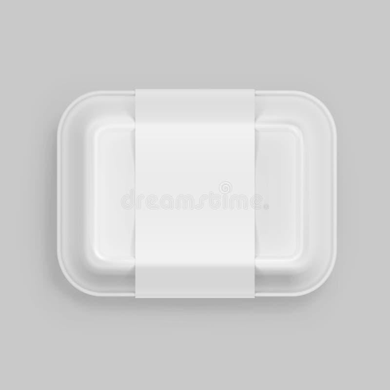 För snabbmatask för vektor packe för emballage för packe för vit behållare förpackande vektor illustrationer