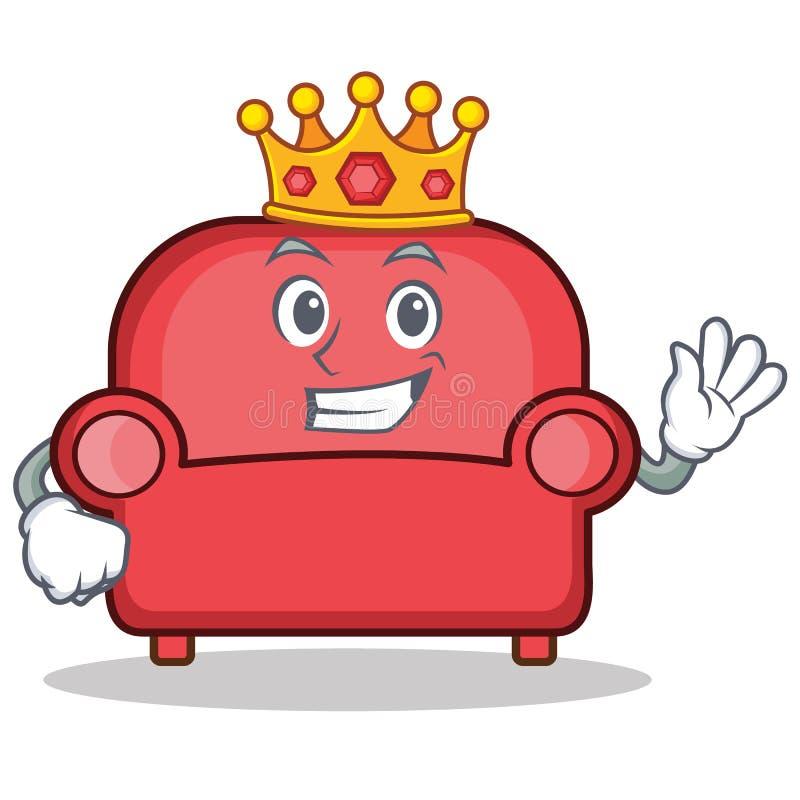 För soffatecken för konung röd tecknad film stock illustrationer