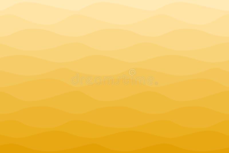 För solstrålar för krabb ombre gul bakgrund royaltyfri illustrationer