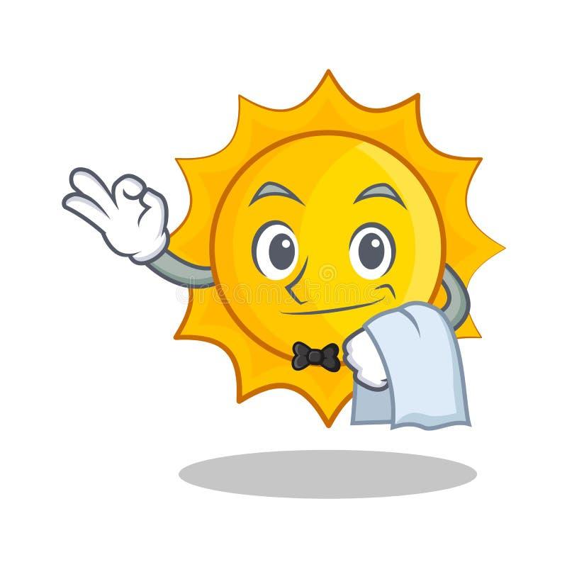 För soltecken för uppassare gullig tecknad film royaltyfri illustrationer