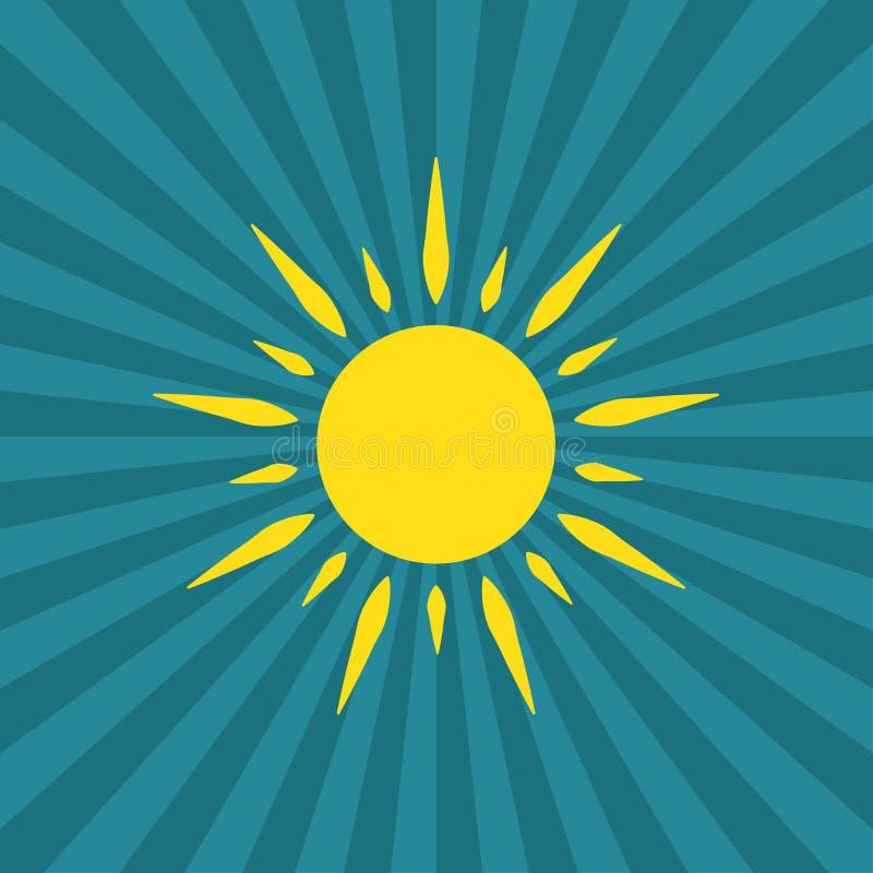 För soluppsättning för vektor modernt solsken royaltyfri illustrationer