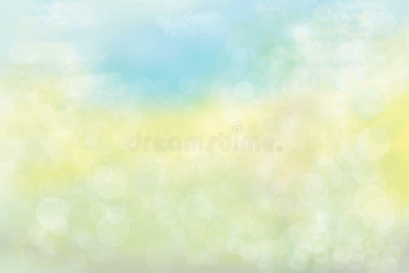 För sommarbokeh för abstrakt pastell kulör ljus bakgrund Begrepp stock illustrationer