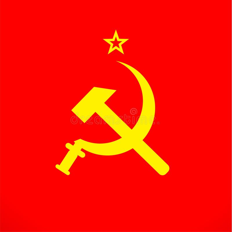 För sovjetiska Ryssland för för Ussr skära och hammare symbol union royaltyfri illustrationer