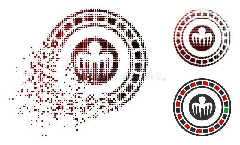 För spökbildkasino för splittrat PIXEL rastrerad symbol vektor illustrationer