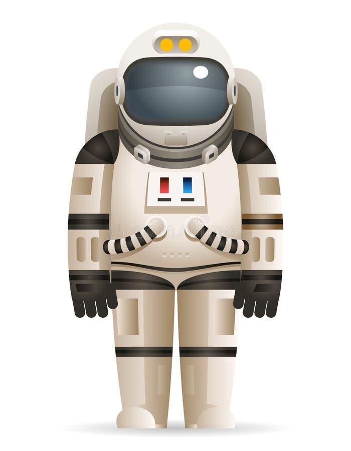 För Spaceman Space Stars för kosmonautRealistic 3d astronaut vektor för mall för design för tecknad film för symbol för bakgrund  royaltyfri illustrationer