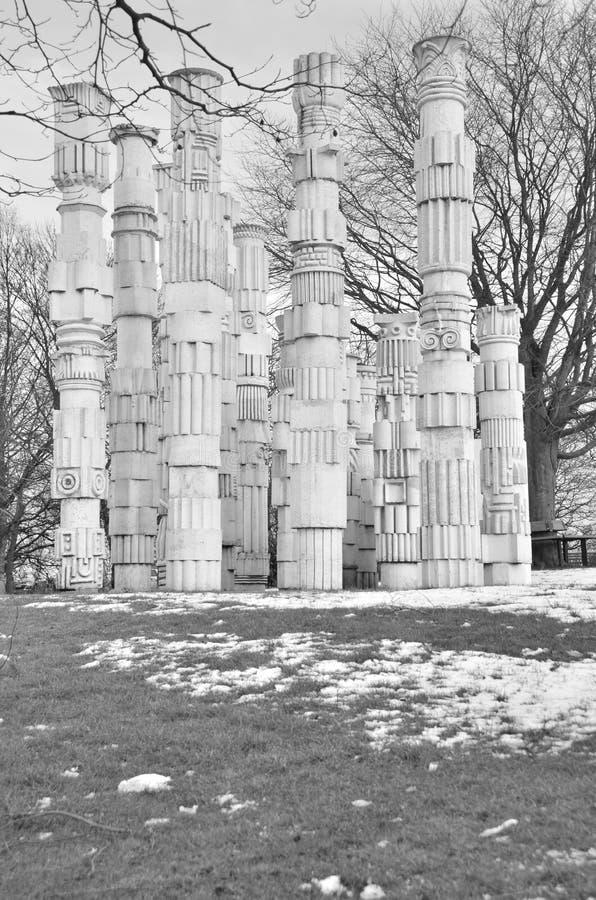 för spain för barcelona kolonner ionic sikt stil fotografering för bildbyråer