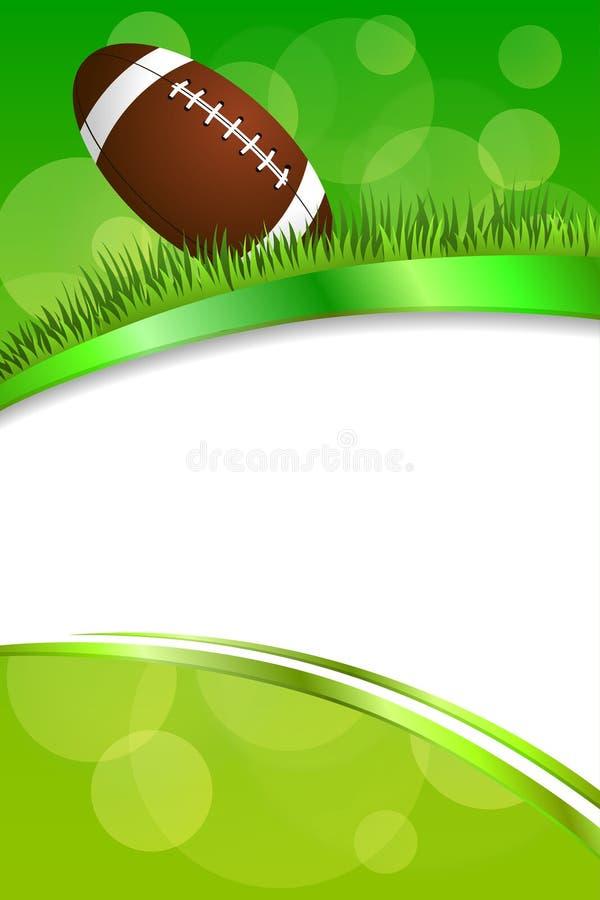 För sportgräs för bakgrund illustration för band för abstrakt för gräsplan boll för amerikansk fotboll vertikal vektor illustrationer