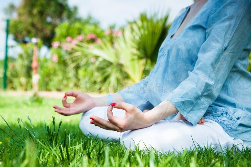 för sporttema för kobra utomhus- park skjuten yoga arkivfoto