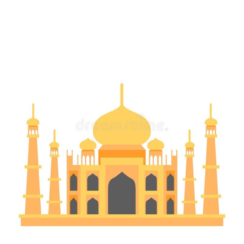 För ställeTaj Mahal för lopp berömd symbol illustration vektor illustrationer