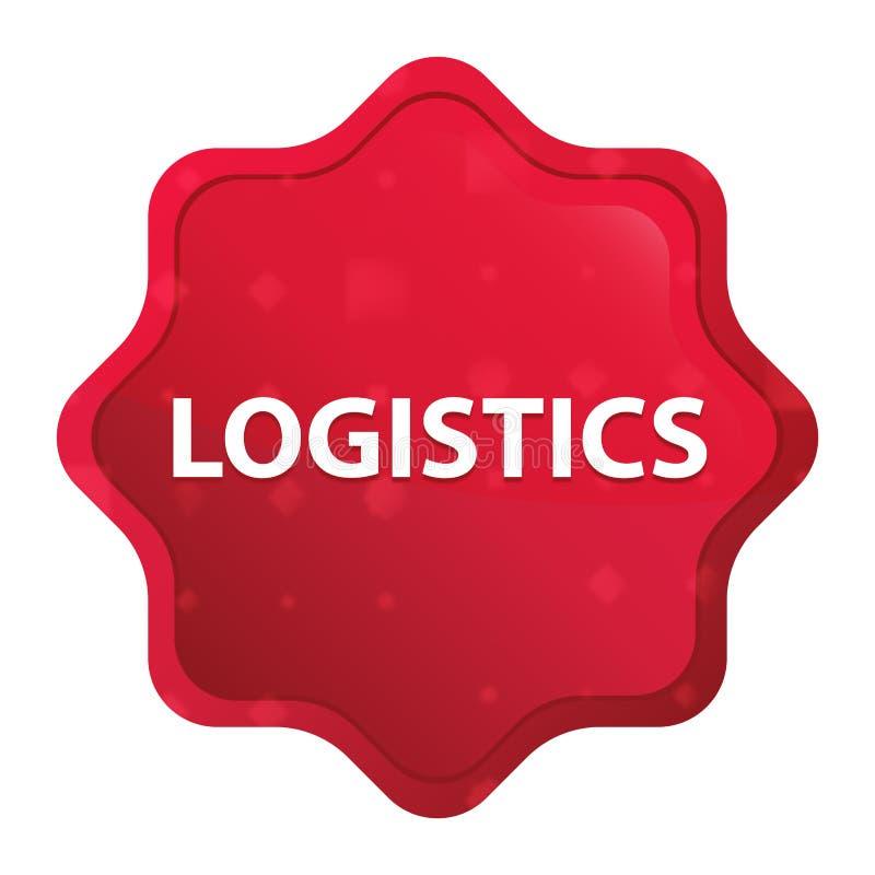 För starburstklistermärke för logistik dimmig rosa röd knapp vektor illustrationer