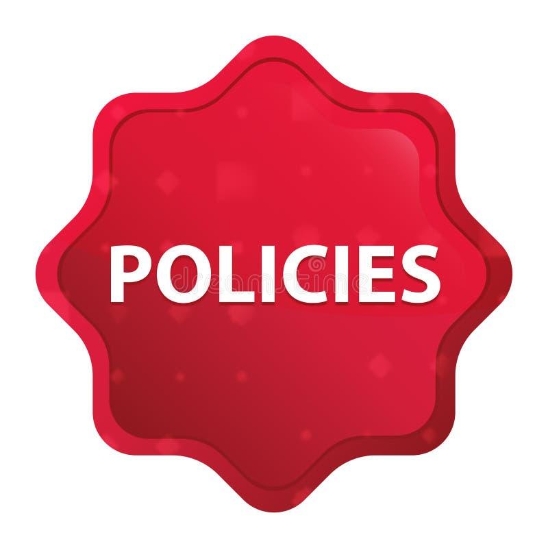 För starburstklistermärke för politik dimmig rosa röd knapp royaltyfri illustrationer