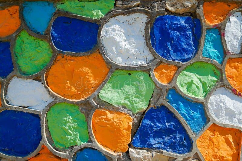 För stenvägg för abstrakt Grunge mångfärgad bakgrund arkivbilder