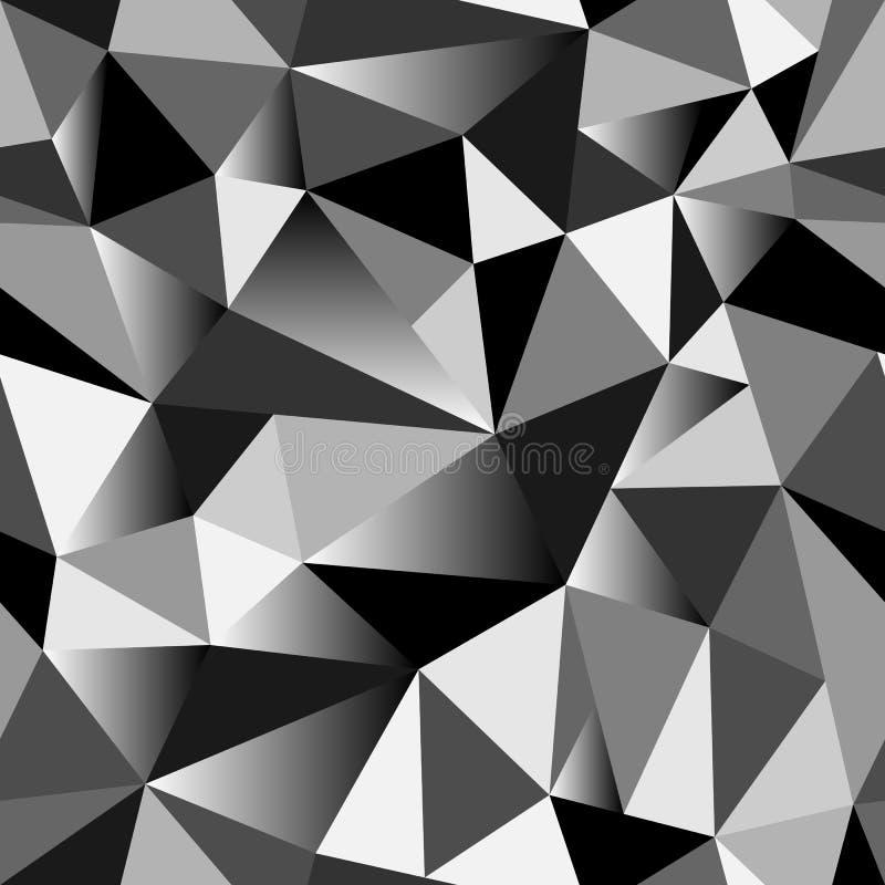 För stilvektor för abstrakt lutning geometrisk rufsad till triangulär sömlös låg poly bakgrund för diagram för illustration stock illustrationer
