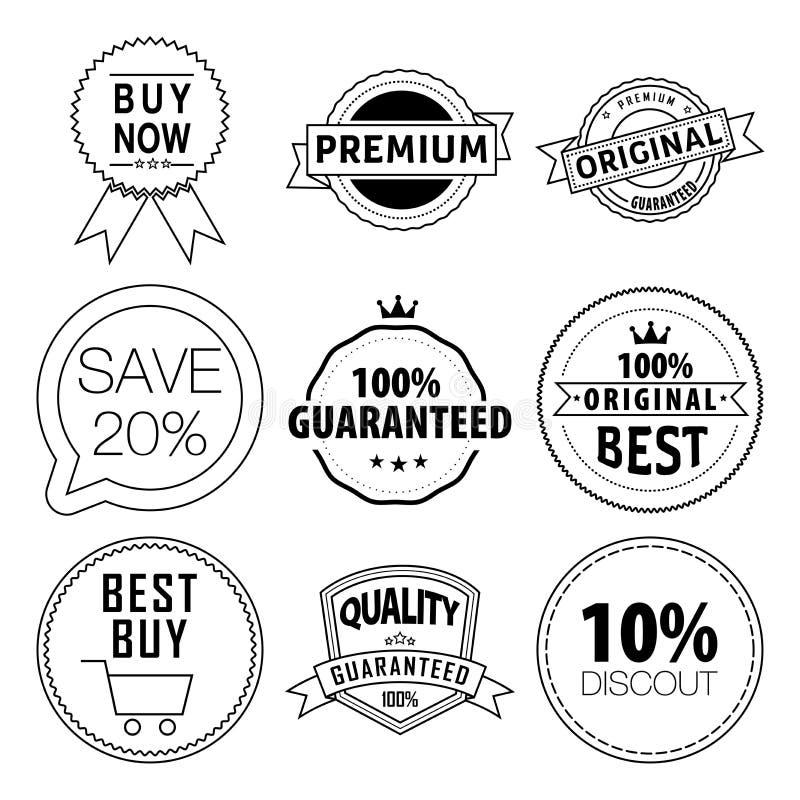 för storstilad vibrerande set vektor etikettförsäljning för färg stock illustrationer