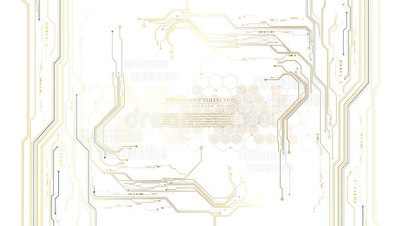 För strömkretsmaskinvara för teknologi futuristisk abstrakt vektor för bakgrund för anslutning vektor illustrationer