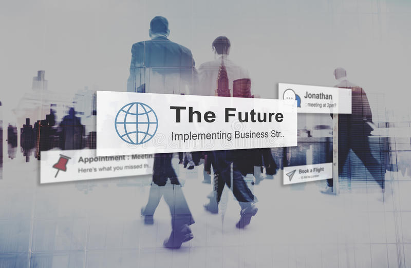 För strategivision för framtida plan begreppet för utveckling för innovation royaltyfri fotografi